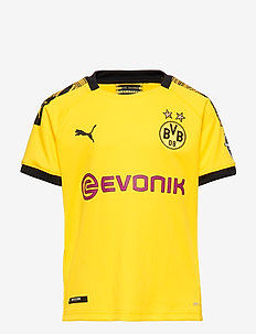 BVB Home Shirt Replica Jr with Evonik Logo with OPEL Logo - CYBER YELLOW-PUMA BLACK
