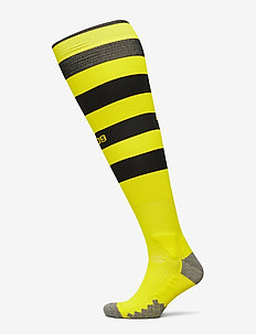 Team BVB Hooped Socks - skarpetki piłkarskie - cyber yellow - puma black