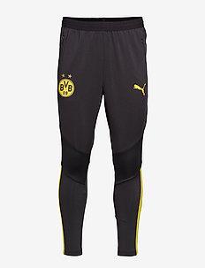 BVB Training Pants Pro with zip pockets - PUMA BLACK-CYBER YELLOW