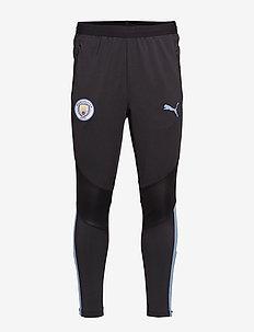 MCFC Training Pants PRO WITH zipped pockets - PUMA BLACK-TEAM LIGHT BLUE