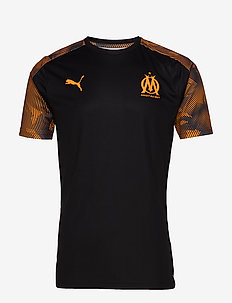 OM Training Jersey SS WITH Sponsor - PUMA BLACK-ORANGE POPSICLE
