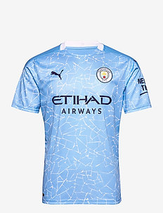 MCFC HOME Shirt Replica SS with  Sponsor Logo - football shirts - team light blue-peacoat