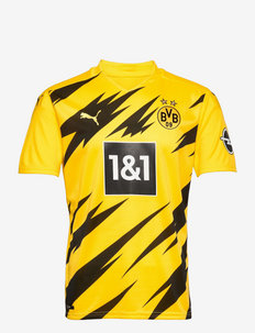 BVB HOME Shirt Replica SS w/ Sponsor Logo w/ Opel - football shirts - cyber yellow-puma black