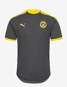 BVB Training Jersey w/ Sponsor - football shirts - asphalt-cyber yellow