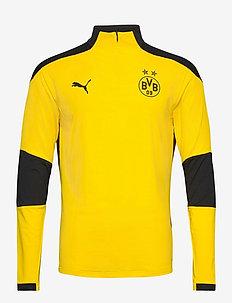 Borussia Dortmund 1/4 Zip Top - perus-college-paitoja - cyber yellow-puma black