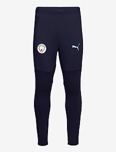 MCFC Training Pants w/ zip pockets and zip legs - trainingshosen - peacoat-team light blue