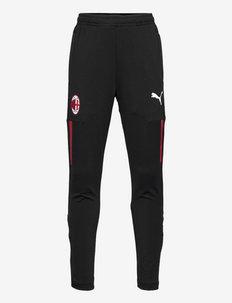 ACM Training Pants Jr w/ pockets w/ zip leg - sportbroeken - puma black-tango red