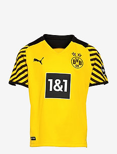 BVB HOME Shirt Replica SS Jr w/ Sponsor - voetbalshirts - cyber yellow-puma black