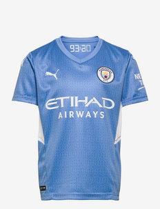 MCFC HOME Shirt Jr w/Sponsor Logo - fodboldtrøjer - team light blue-puma white