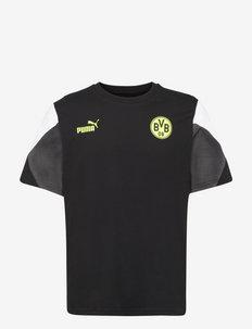 BVB FtblCulture Tee - urheilutopit - puma black-safety yellow