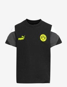 BVB FtblCulture Tee Jr - korte mouwen - puma black-safety yellow