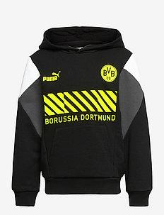 BVB FtblCulture Hoody Jr - hoodies - puma black-safety yellow