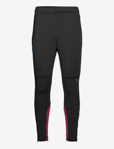 MCFC Training Pants w/ pockets & zip legs (Retail&Bench) - sportbyxor - puma black-ocean depths