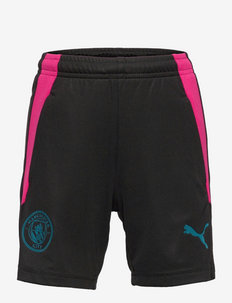MCFC Training Shorts Jr w/ pockets - sportshorts - puma black-ocean depths