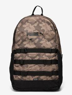 PUMA Style Backpack - sacs a dos - shitake-camo aop