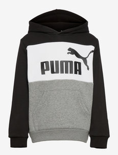 ESS+ Colorblock Hoodie FL B - hupparit - puma black