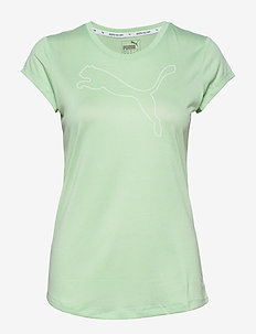 Active Logo Heather Tee - MIST GREEN HEATHER
