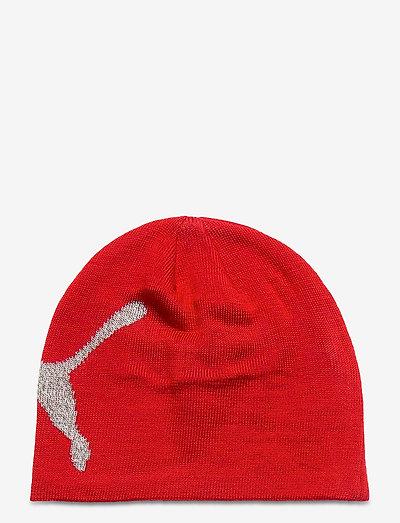 Ess Logo Beanie - mössor - high risk red-big cat