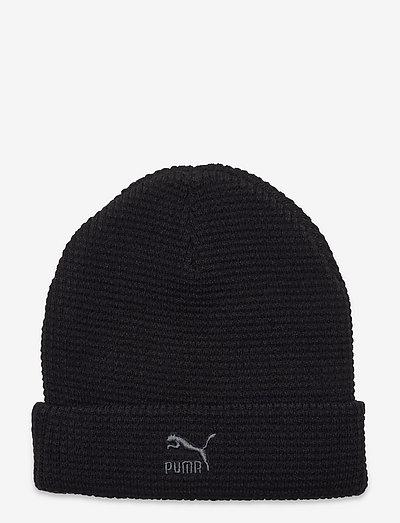 ARCHIVE mid fit beanie - mössor - puma black-gray logo