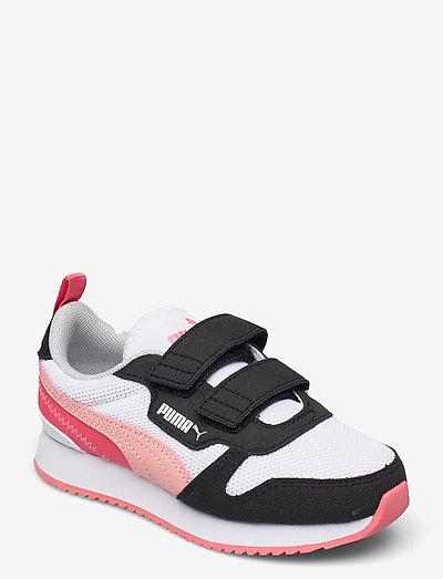 Puma R78 V PS - låga sneakers - puma white-apricot blush-puma black