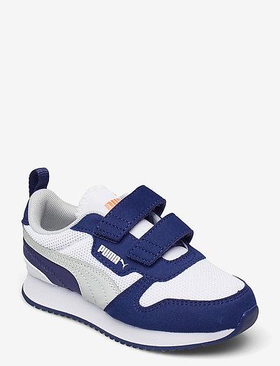 Puma R78 V PS - låga sneakers - puma white-gray violet-elektro blue