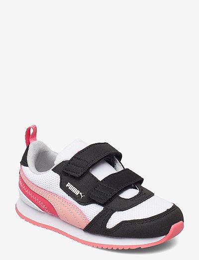 Puma R78 V Inf - låga sneakers - puma white-apricot blush-puma black