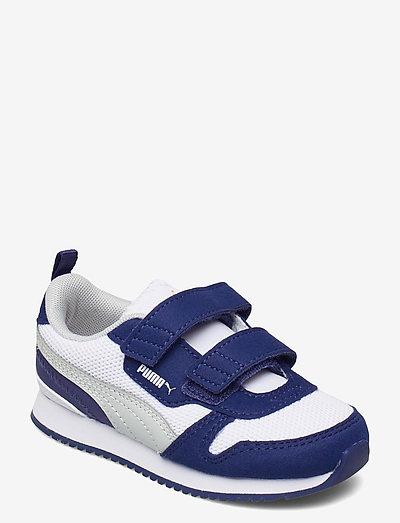 Puma R78 V Inf - låga sneakers - puma white-gray violet-elektro blue