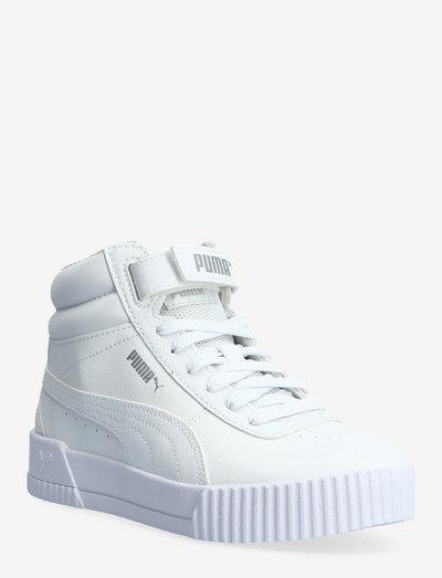 Carina Mid Jr - höga sneakers - puma white-puma white