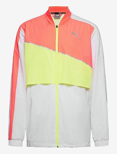 Run Lite Woven Ultra Jacket - träningsjackor - puma white-nrgy peach-fizzy yellow