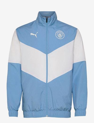 MCFC Prematch Jacket - sportjackor - team light blue-puma white