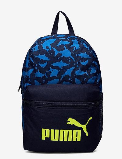 PUMA Phase Small Backpack - ryggsäckar - peacoat-shark aop