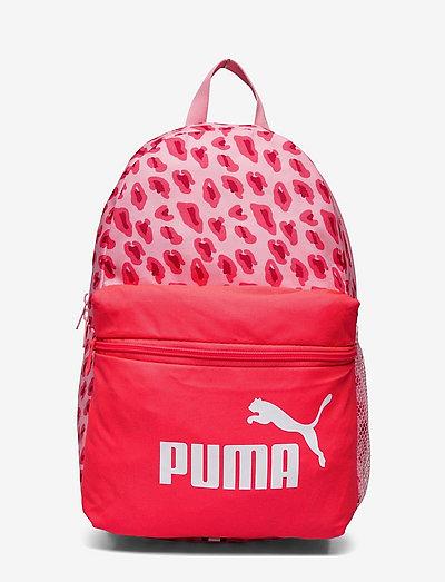 PUMA Phase Small Backpack - ryggsäckar - peony-animal aop