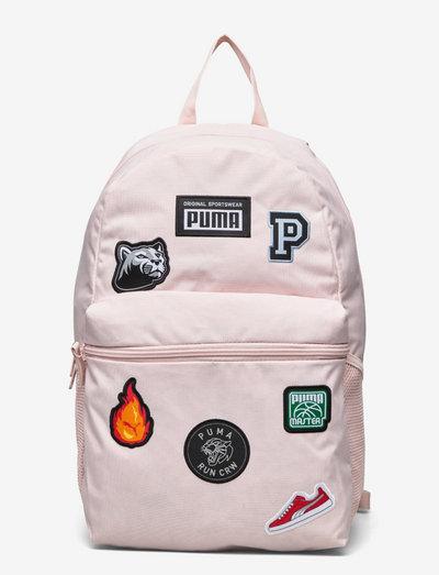 PUMA Patch Backpack - ryggsäckar - lotus