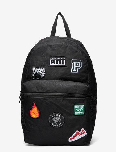 PUMA Patch Backpack - ryggsäckar - puma black
