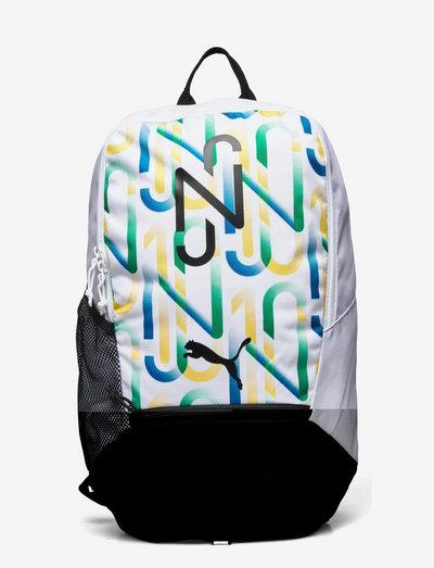 NEYMAR JR Backpack - ryggsäckar - puma white-puma black-amazon green-dandelion