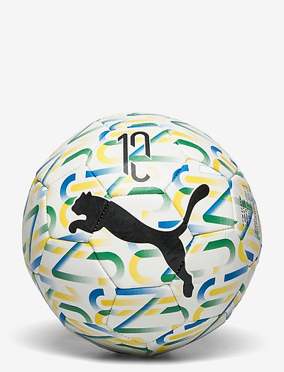 NJR Fan Graphic ball - sportutrustning - puma white-dandelion-amazon green-puma black