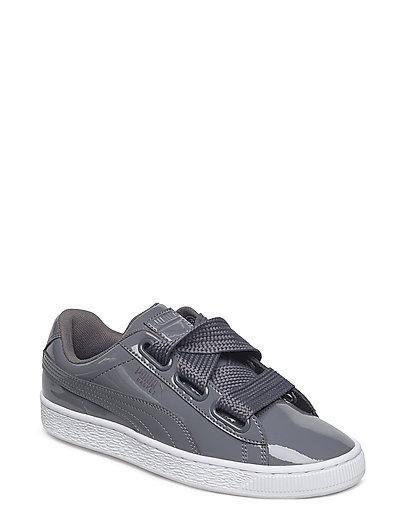 Basket Heart Patent Wn'S Niedrige Sneaker Grau PUMA