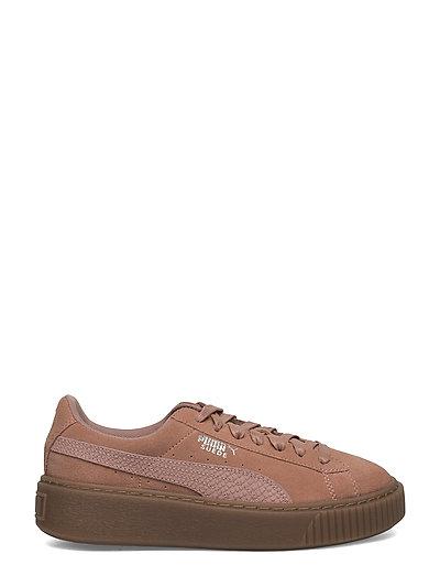 Suede Platform Animal Niedrige Sneaker Braun PUMA