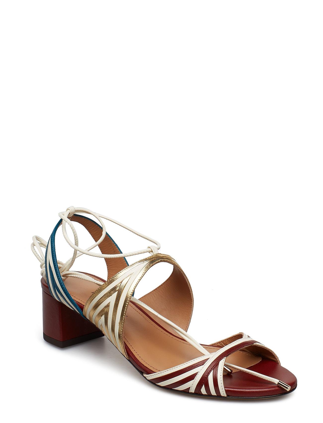 f61598b43fe Odilia Sandal Med Hæl Multi/mønstret PURA LOPEZ | Dame sandaler
