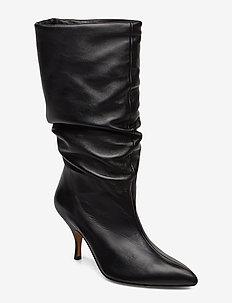 AP313 - pitkävartiset saappaat - nappa soft black