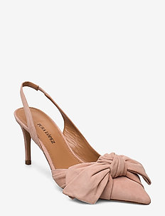 Veronique - sling backs - suede nude 744