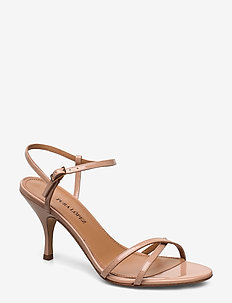 Sonique - sandały na obcasie - vernice nude