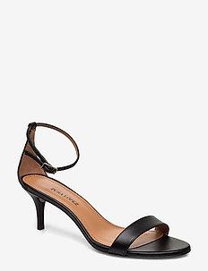 AQ255 - korolliset sandaalit - nappa soft black