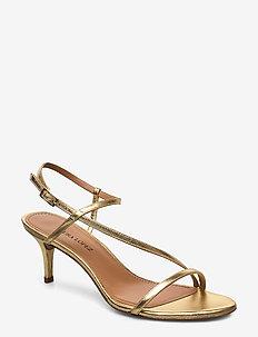 Laquenda - korolliset sandaalit - napa metal gold 46