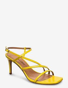Marinique - sandały na obcasie - kid yellow