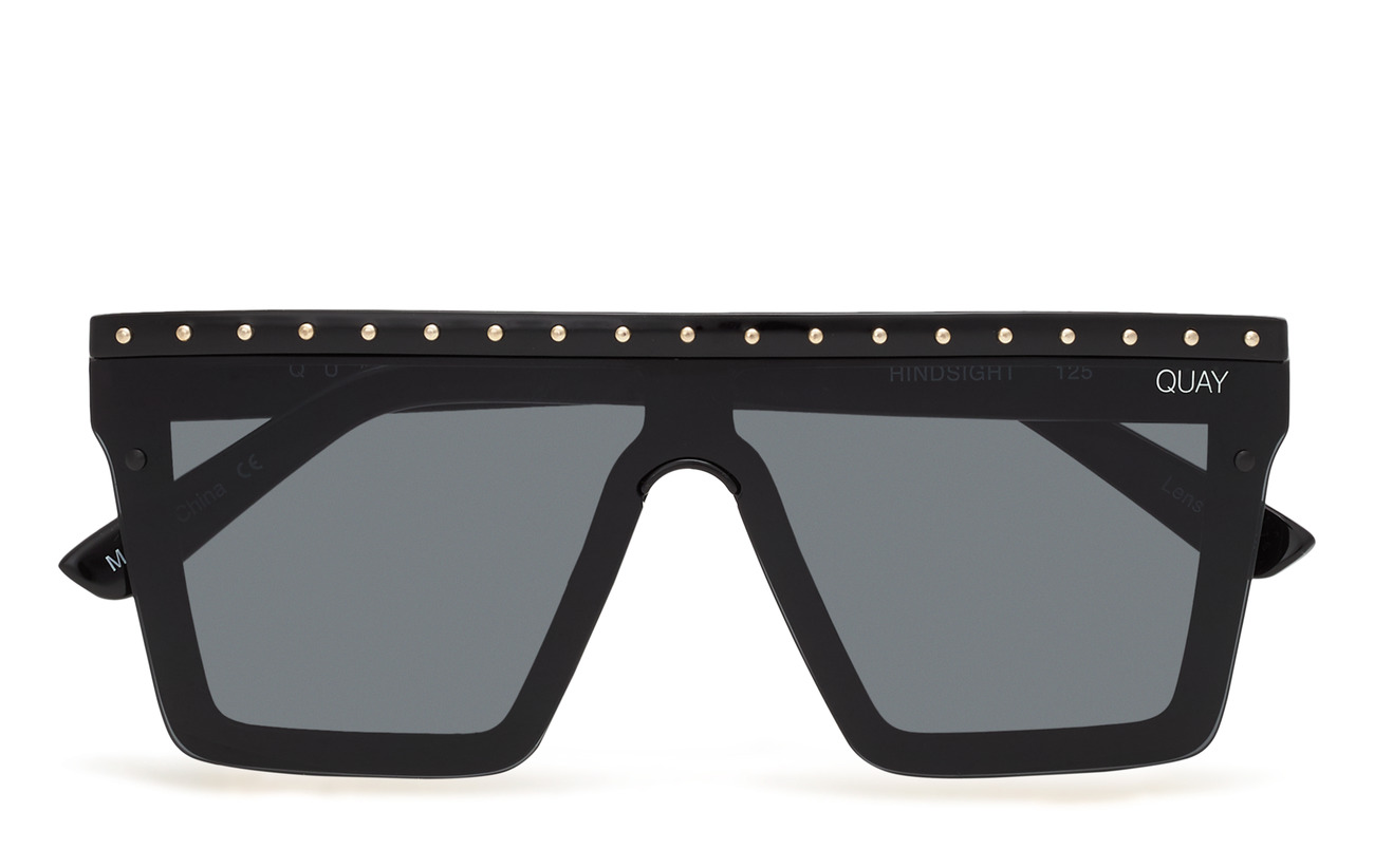 QUAY AUSTRALIA HINDSIGHT - BLACK GOLD STUD/ SMOKE LENS