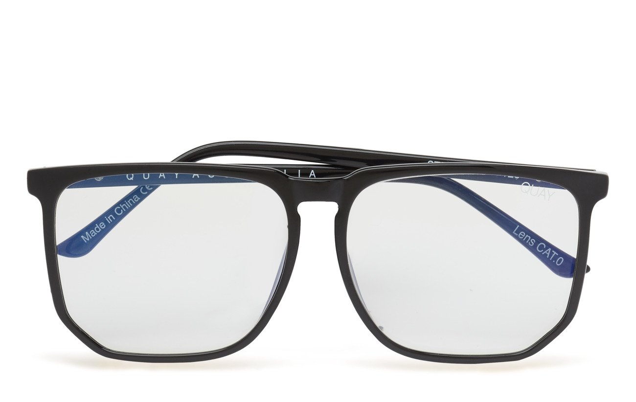 QUAY AUSTRALIA STRANGER - BLACK / CLEAR BLUE LIGHT LENS