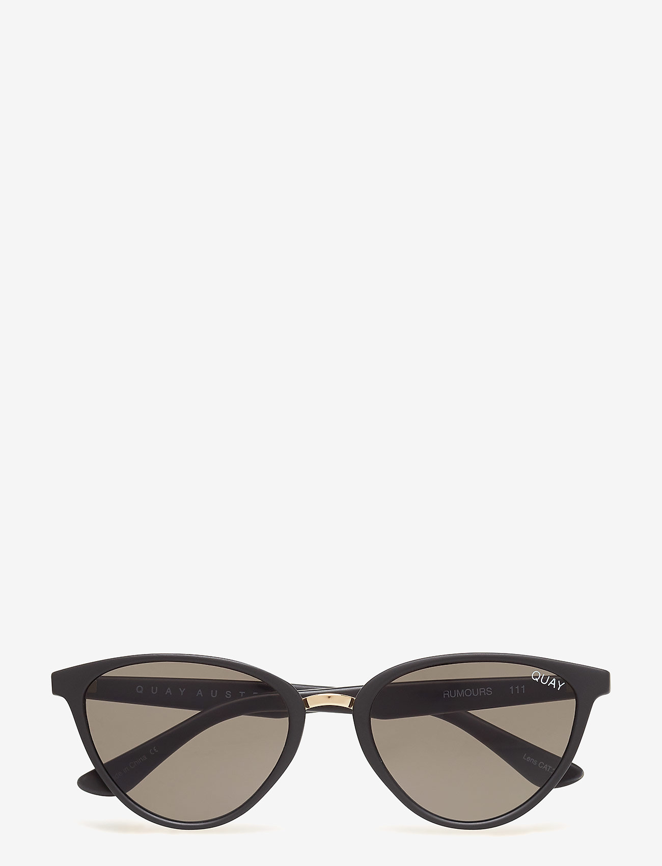 QUAY AUSTRALIA - RUMOURS - cat-eye - black / smoke lens - 0