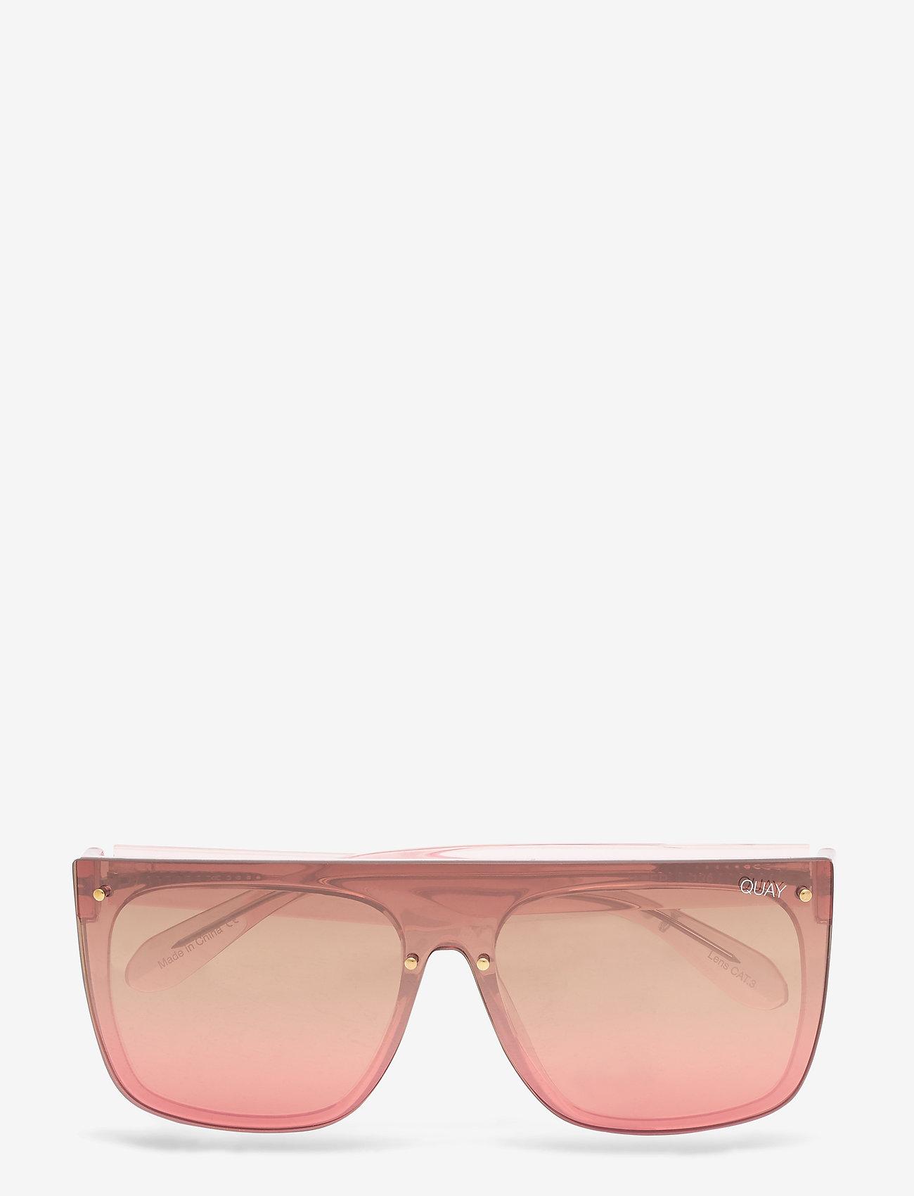 QUAY AUSTRALIA - JADED - d-shaped - pink / brown pink flash - 0