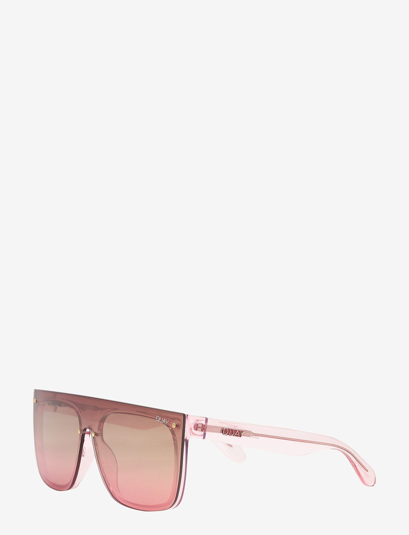 QUAY AUSTRALIA - JADED - d-shaped - pink / brown pink flash - 1